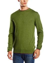 olivgrüner Pullover mit einem Rundhalsausschnitt von CMP