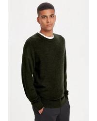 olivgrüner Pullover mit einem Rundhalsausschnitt von Matinique