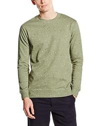 olivgrüner Pullover mit einem Rundhalsausschnitt von ONLY & SONS
