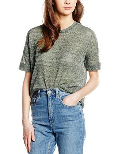 olivgrüner Pullover mit einem Rundhalsausschnitt von Vero Moda