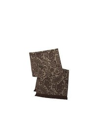 olivgrüner Schal mit Paisley-Muster