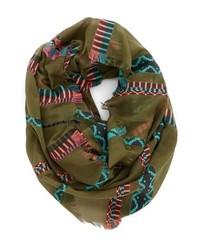 olivgrüner Schal