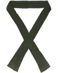 olivgrüner Schal von Maison Margiela