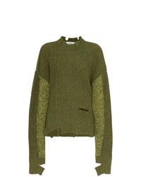 olivgrüner Strick Oversize Pullover von Ambush