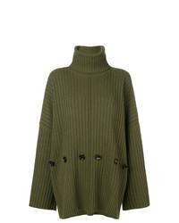 olivgrüner Strick Oversize Pullover von Joseph