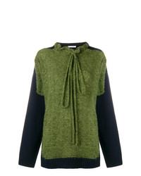olivgrüner Strick Oversize Pullover von JW Anderson
