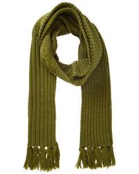 olivgrüner Strick Schal
