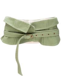 olivgrüner Taillengürtel von Isabel Marant