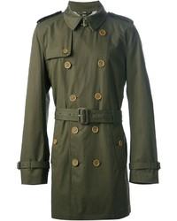 olivgrüner Trenchcoat