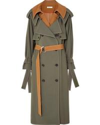 olivgrüner Trenchcoat von Adeam