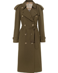 olivgrüner Trenchcoat von Burberry