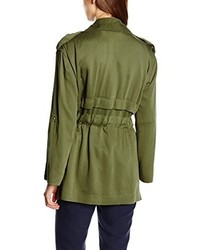 olivgrüner Trenchcoat von Cortefiel