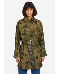 olivgrüner Trenchcoat von khujo
