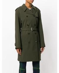 olivgrüner Trenchcoat von Prada Vintage