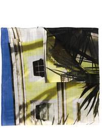 olivgrünes bedrucktes Baumwolle Einstecktuch von Paul Smith