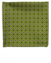 olivgrünes bedrucktes Einstecktuch