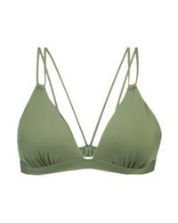 olivgrünes Bikinioberteil