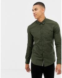 olivgrünes Businesshemd von Tom Tailor