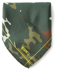 olivgrünes Camouflage Einstecktuch von fe-fe