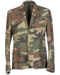 olivgrünes Camouflage Sakko