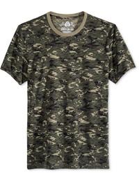 Olivgrünes Camouflage T-Shirt mit Rundhalsausschnitt von American Rag
