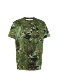 olivgrünes Camouflage T-Shirt mit einem Rundhalsausschnitt von Givenchy
