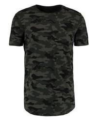 olivgrünes Camouflage T-Shirt mit einem Rundhalsausschnitt von KIOMI