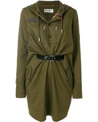 olivgrünes Kleid von Saint Laurent