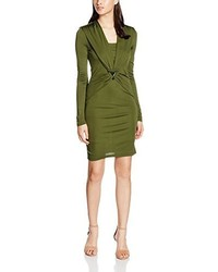 olivgrünes Kleid von Versace