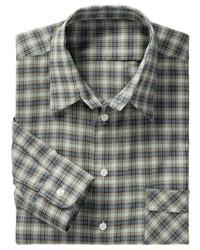 olivgrünes Langarmhemd mit Schottenmuster von Classic