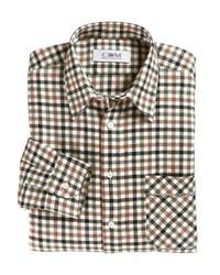 olivgrünes Langarmhemd mit Vichy-Muster von Classic
