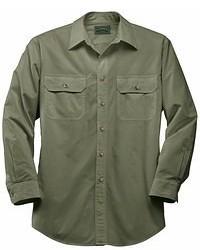 olivgrünes Langarmhemd