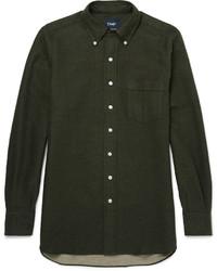 olivgrünes Langarmhemd von Drakes