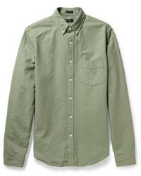 olivgrünes Langarmhemd von J.Crew
