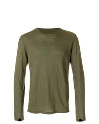 olivgrünes Langarmshirt