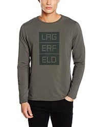 olivgrünes Langarmshirt von Karl Lagerfeld