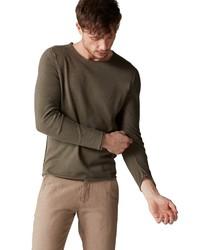 olivgrünes Langarmshirt von Marc O'Polo