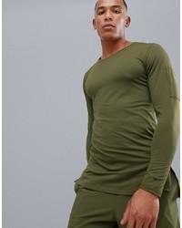 olivgrünes Langarmshirt von Nike Training