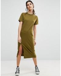 Olivgrünes Midikleid von Asos