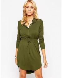 olivgrünes Shirtkleid von Asos