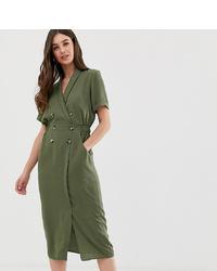 olivgrünes Shirtkleid von Asos Tall