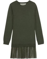 olivgrünes Sweatkleid von RED Valentino