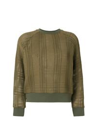 olivgrünes Sweatshirt mit Schottenmuster von Mr & Mrs Italy