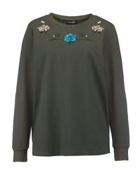 olivgrünes Sweatshirt von DRESS IN