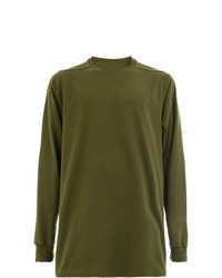 olivgrünes Sweatshirt von Rick Owens
