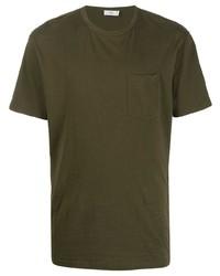 olivgrünes T-Shirt mit einem Rundhalsausschnitt von Closed