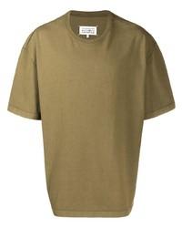 olivgrünes T-Shirt mit einem Rundhalsausschnitt von Maison Margiela