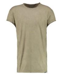olivgrünes T-Shirt mit einem Rundhalsausschnitt von Brooklyn's Own by Rocawear