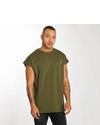olivgrünes T-Shirt mit einem Rundhalsausschnitt von Cavallo de ferro