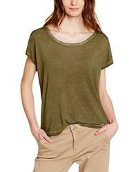 Olivgrünes T-Shirt mit Rundhalsausschnitt von DDP